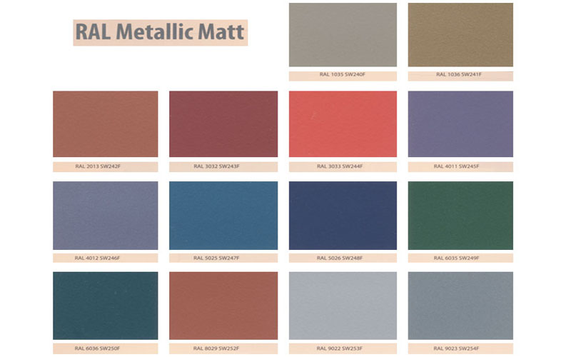 Electrostatic Painting Colours Ral Metall Series